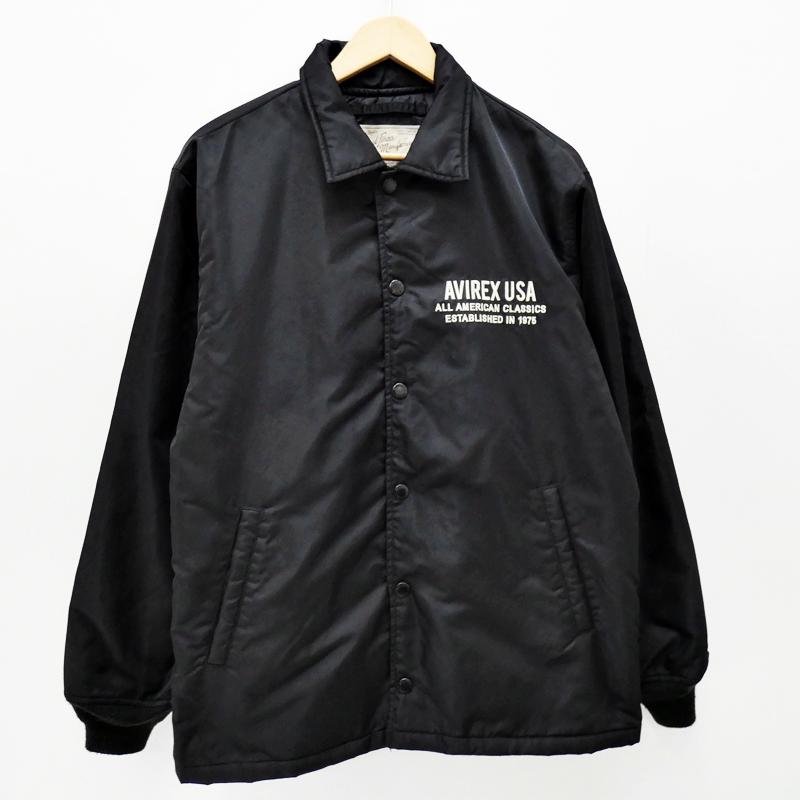 【中古】AVIREX/アビレックス コーチジャケット サイズ:XL カラー:ブラック【f093】