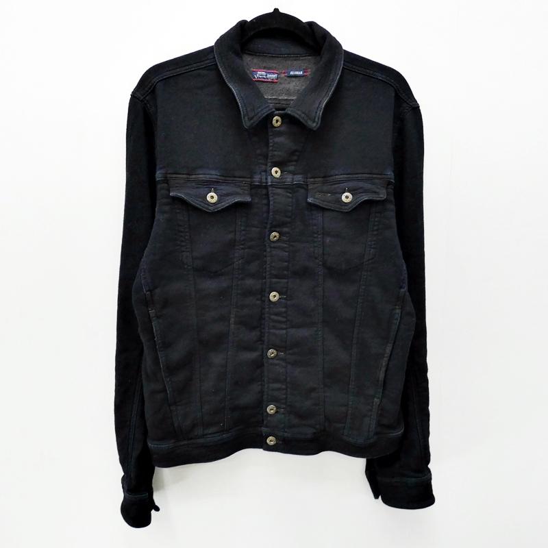 【中古】DIESEL/ディーゼル ELSHARジョグデニムジャケット サイズ:XL カラー:ブラック / インポート【f094】