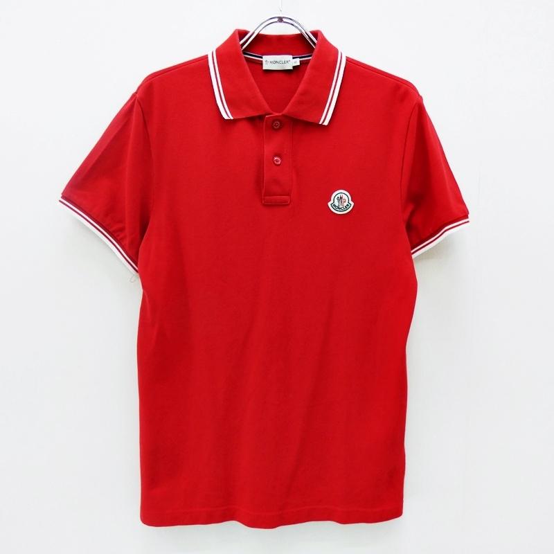 【中古】MONCLER/モンクレール 国内正規品 ポロシャツ サイズ:S カラー:レッド【f108】