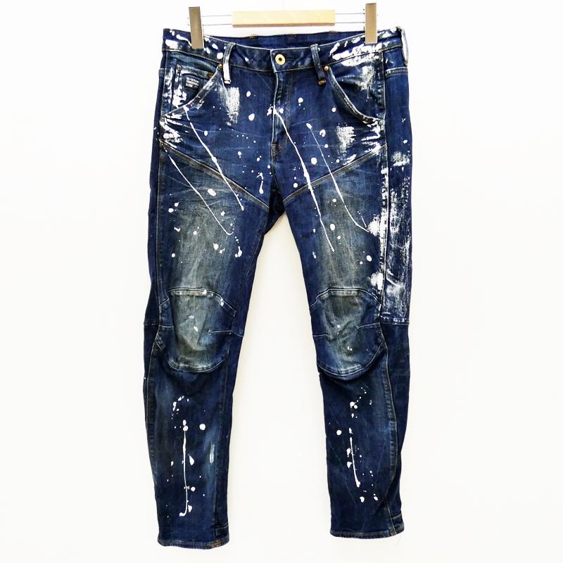 【中古】G-STAR RAW/ジースターロウ Elwood 3D Low Waist Boyfriend Jeansデニムパンツ サイズ:25 カラー:ブルー / インポート【f112】
