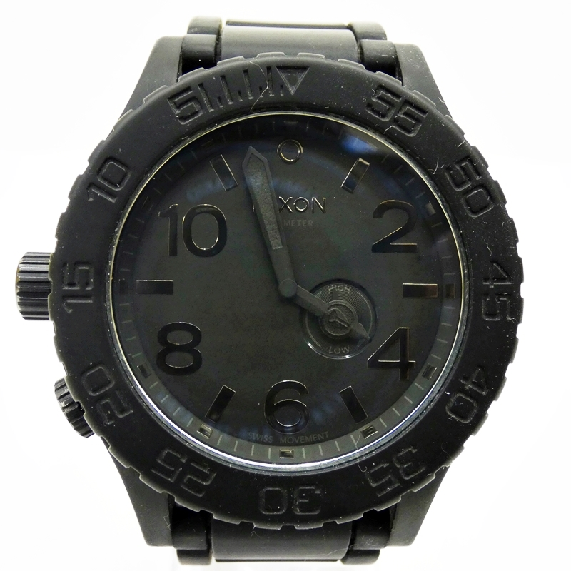 【中古】NIXON/ニクソン 腕時計 51-30 ブラック×ブラック クォーツ ラバーベルト【f131】