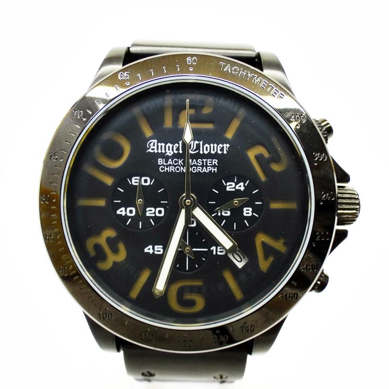 【中古】Angel Clover/エンジェルクローバー 腕時計 BM46 ブラック×ブラック クォーツ その他ベルト【f131】