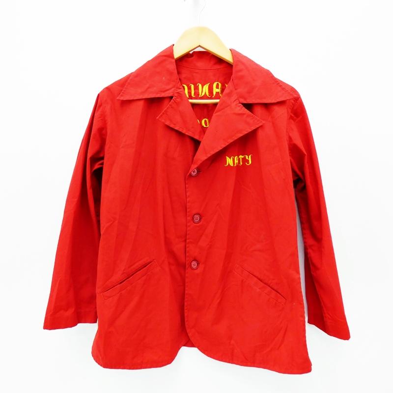 【中古】70's フィリピンジャケット MAILA サイズ:- カラー:レッド / アメカジ【f093】