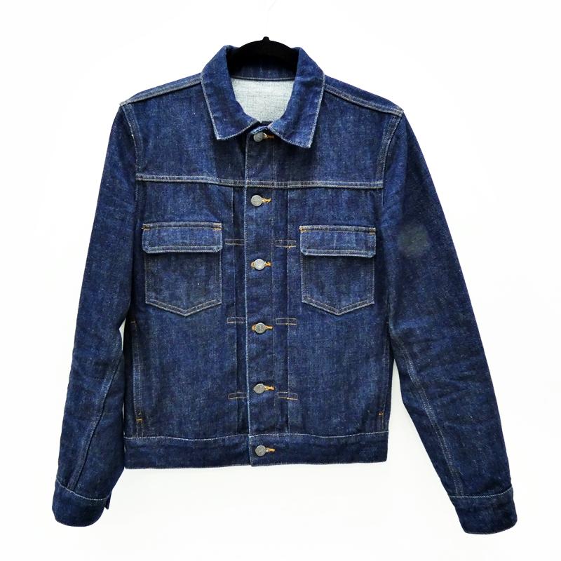 【中古】A.P.C./アーペーセー デニムトラッカージャケット サイズ:XS カラー:ネイビー / インポート【f094】