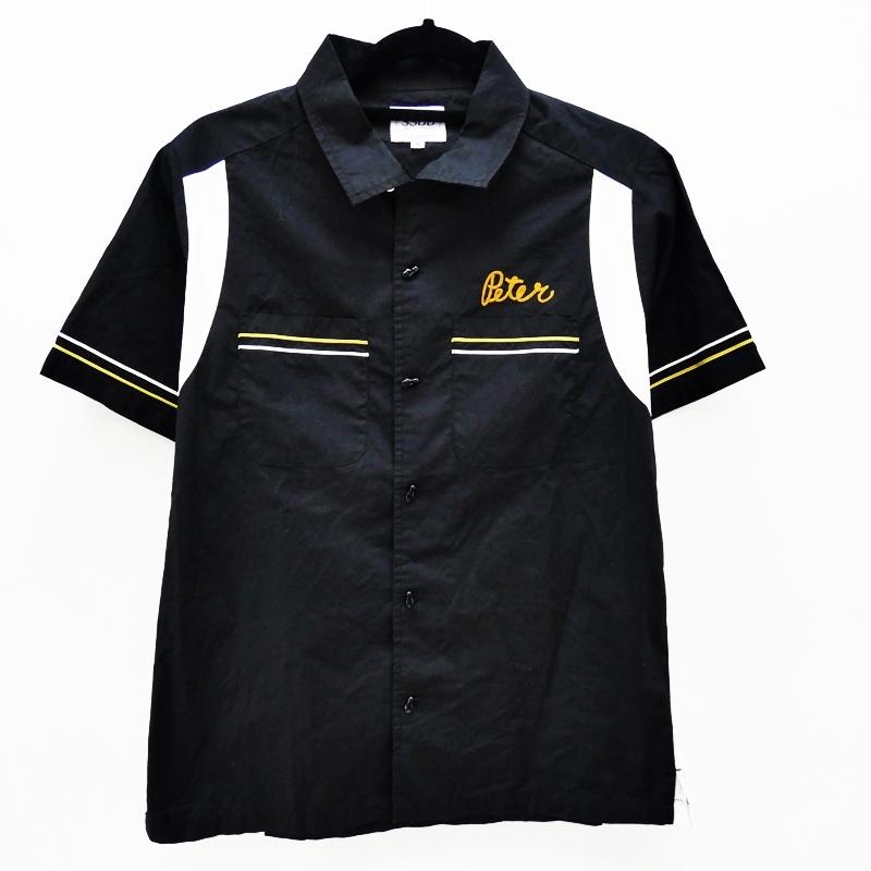 【中古】FUCT SSDD/ファクト 2016S/S PANEL SOCIAL CLUB SHIRTボウリングシャツ サイズ:S カラー:ブラック / ストリート【f103】