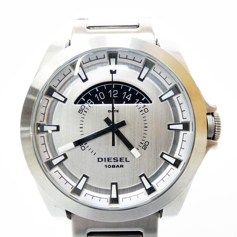 【中古】DIESEL/ディーゼル 腕時計 DZ1662 シルバー×シルバー クォーツ ステンレススティールベルト【f131】