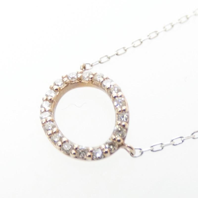 【中古】旭ダイヤモンド ダイヤ K18ネックレス カラー:シルバー【f134】