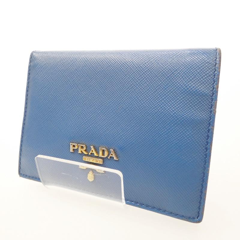 【中古】PRADA/プラダ 1MV204 サフィアーノ コンパクト財布【f125】