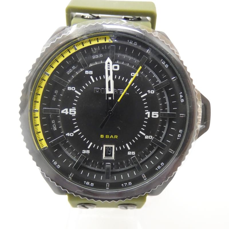 【新古品・未使用品】DIESEL/ディーゼル DZ1758 腕時計 サイズ:- カラー:ブラック(文字盤)×カーキ(ベルト)【f130】