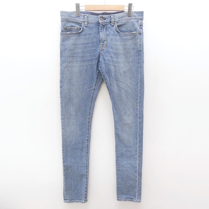 【中古】Saint Laurent/サンローラン 355573 スキニーデニムパンツ サイズ:31 カラー:ブルー【f135】