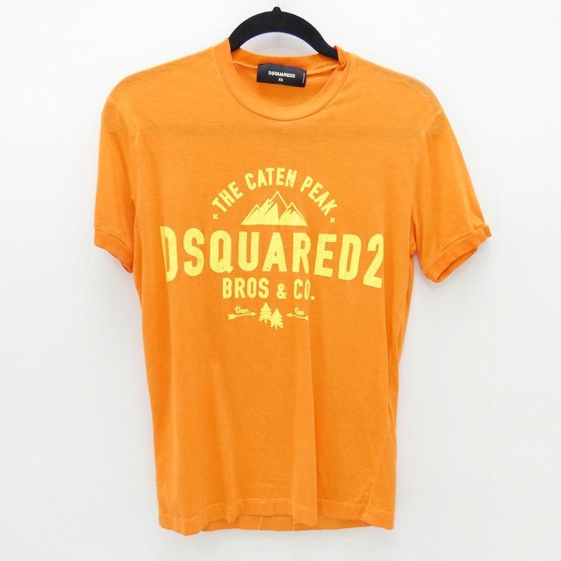 【中古】DSQUARED2/ディースクエアード 2017S/S Tシャツ サイズ:XS カラー:オレンジ【f108】