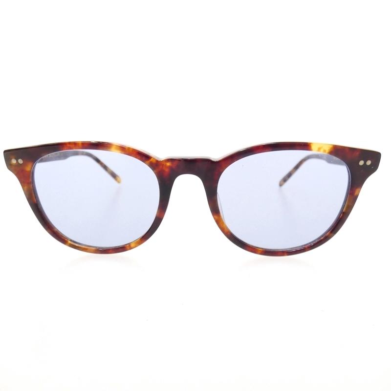 【中古】金子眼鏡/KANEKO OPTICAL ボストンセルフレーム サイズ:- カラー:ブラウン(フレーム)×ブルー(レンズ)【f116】