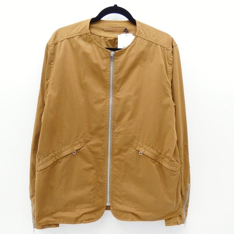 【中古】Scye/サイ 2017年モデル 高密度綿 サテンジップアップジャケット サイズ:40 カラー:ブラウン / セレクト【f091】
