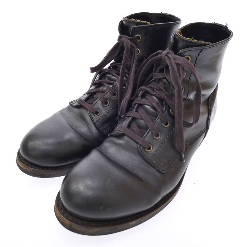 【中古】BUTTERO/ブッテロ T BONE レザーブーツ サイズ:41.5 カラー:ブラック【f127】