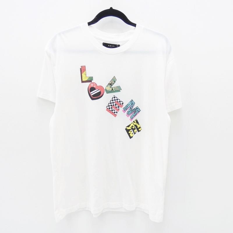 【中古】AMIRI/アミリ 2018S/S サザビーリーグ国内正規品 LOVE ME TEETシャツ サイズ:XS カラー:ホワイト【f108】