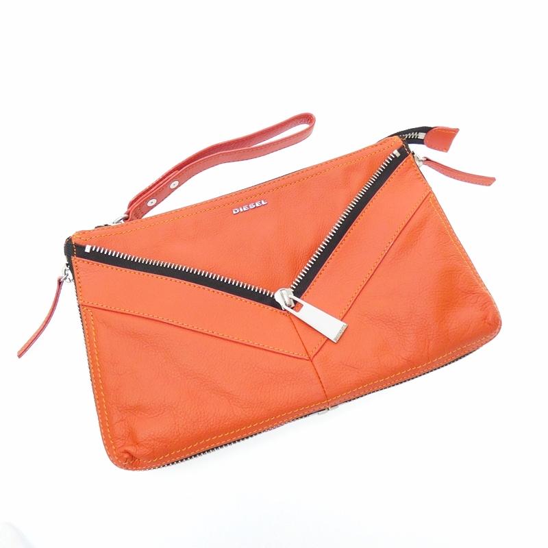 【中古】DIESEL//ディーゼル LE LITTSY 2Wayクラッチバッグ サイズ:- カラー:オレンジ【f121】