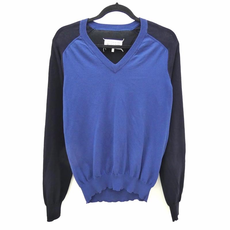 【中古】Maison Margiela/メゾンマルジェラ 2015S/S コットンニット サイズ:M カラー:ブルー【f108】