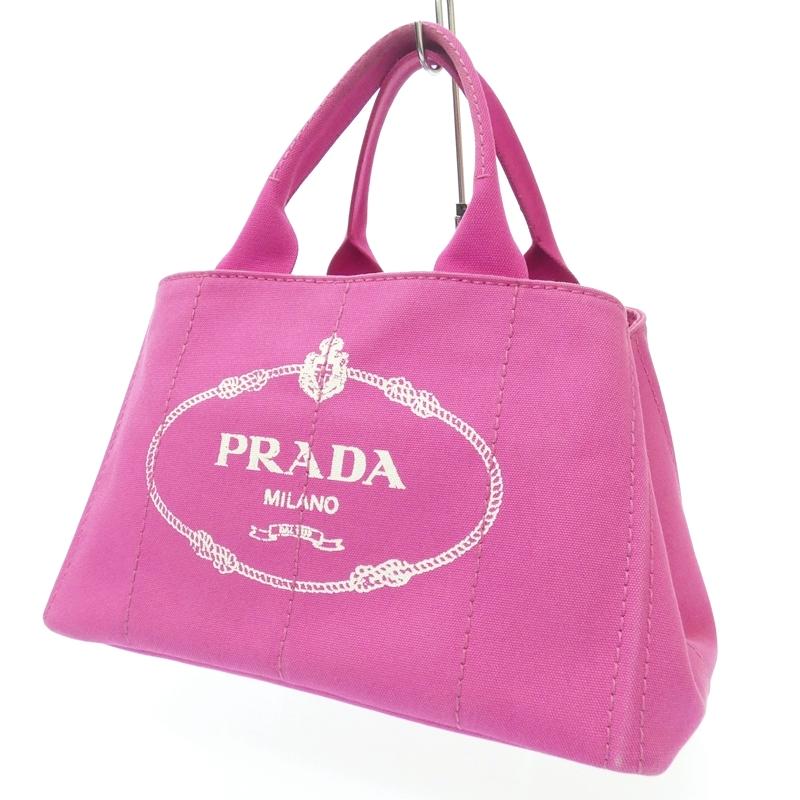 【中古】PRADA/プラダ トートバッグ サイズ:- カラー:ピンク【f122】