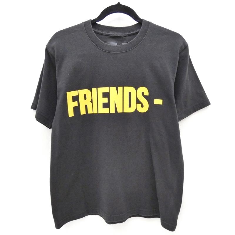 【中古】VLONE/ヴィーロン FRIENDS S/S Tシャツ サイズ:S カラー:ブラック【f108】