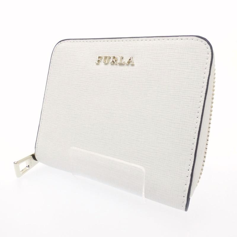 【中古】FURLA/フルラ 二つ折り財布 サイズ:- カラー:ホワイト【f125】
