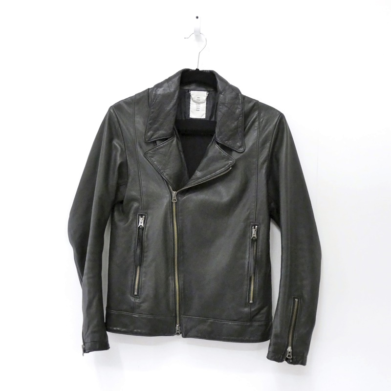 【中古】shama/シャマ カウレザーダブルライダースジャケット サイズ:38 カラー:ブラック / ドメス【f096】