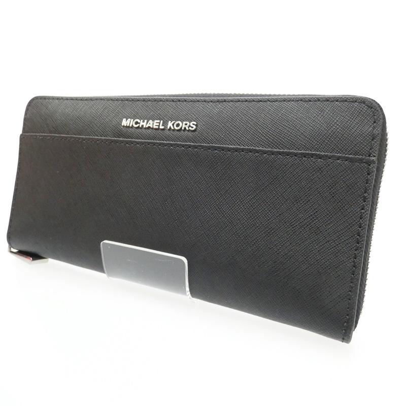 【中古】Michael Kors/マイケルコース ラウンドファスナー長財布 サイズ:- カラー:ブラック【f125】