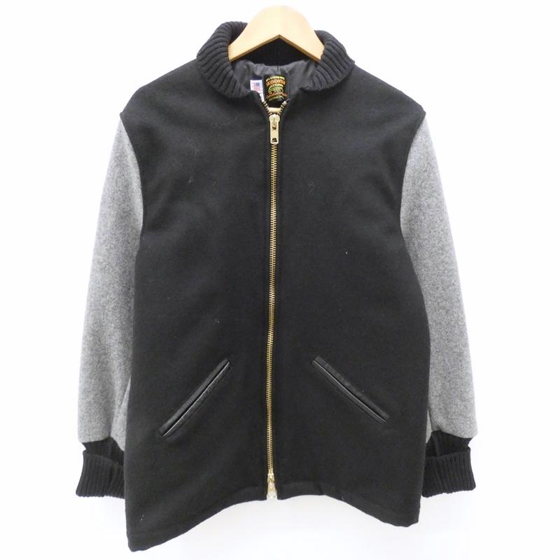【中古】SKOOKUM/スクーカム メルトンファラオジャケット サイズ:36 カラー:ブラック / アメカジ【f093】
