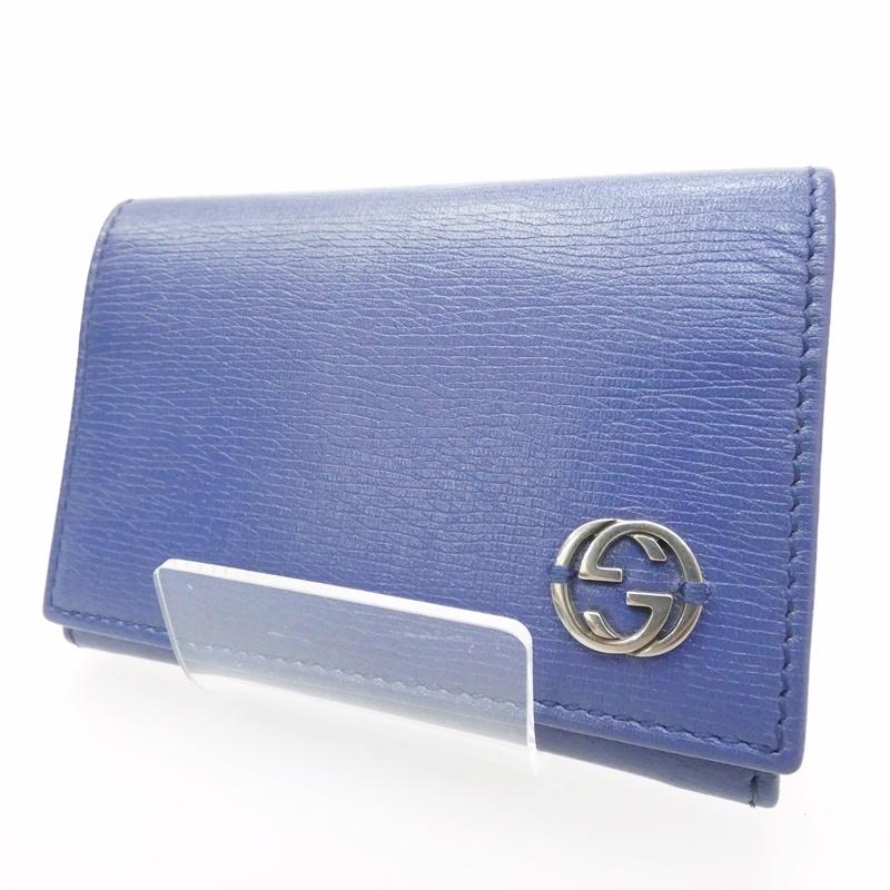 【中古】GUCCI/グッチ カードケース サイズ:- カラー:ブルー【f125】