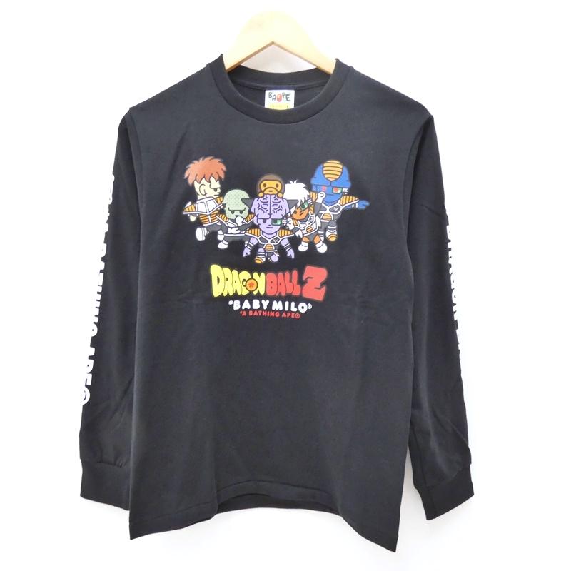 【中古】A BATHING APE/アベイシングエイプ ドラゴンボールZ ギニュー特戦隊ロンTee Tシャツ サイズ:S カラー:ブラック / ストリート【f103】