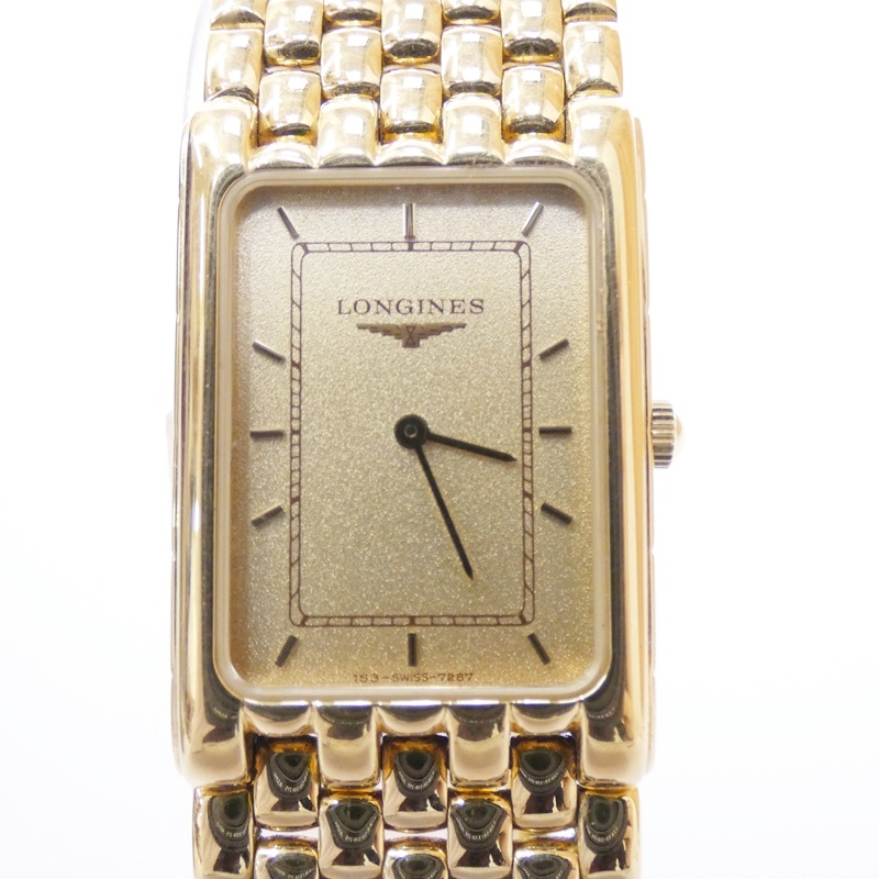 【中古】LONGINES/ロンジン 腕時計 クォーツ サイズ:- カラー:ゴールド(文字盤)×ゴールド(ベルト)【f131】