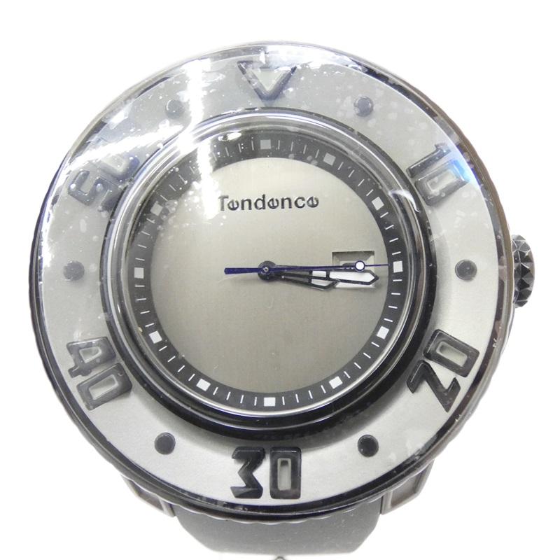 【中古】Tendence/テンデンス 腕時計 クォーツ ラバーバンド サイズ:- カラー:グレー(文字盤)×グレー(ベルト)【f131】