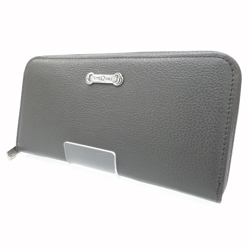 【中古】LONE ONES/ロンワンズ 長財布/Mating Flight Wallet Zipper Long Wallet Silver Plate サイズ:- カラー:グレー【f134】