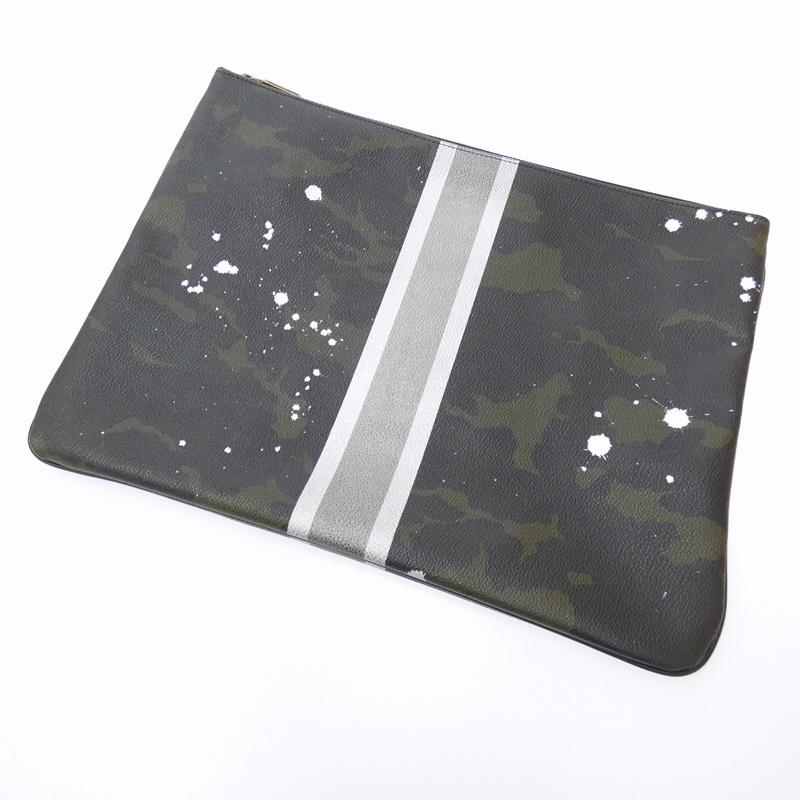 【中古】Gentil Bandit / ジャンティバンティ カモ柄クラッチバッグ サイズ:- カラー:グリーン系【f121】