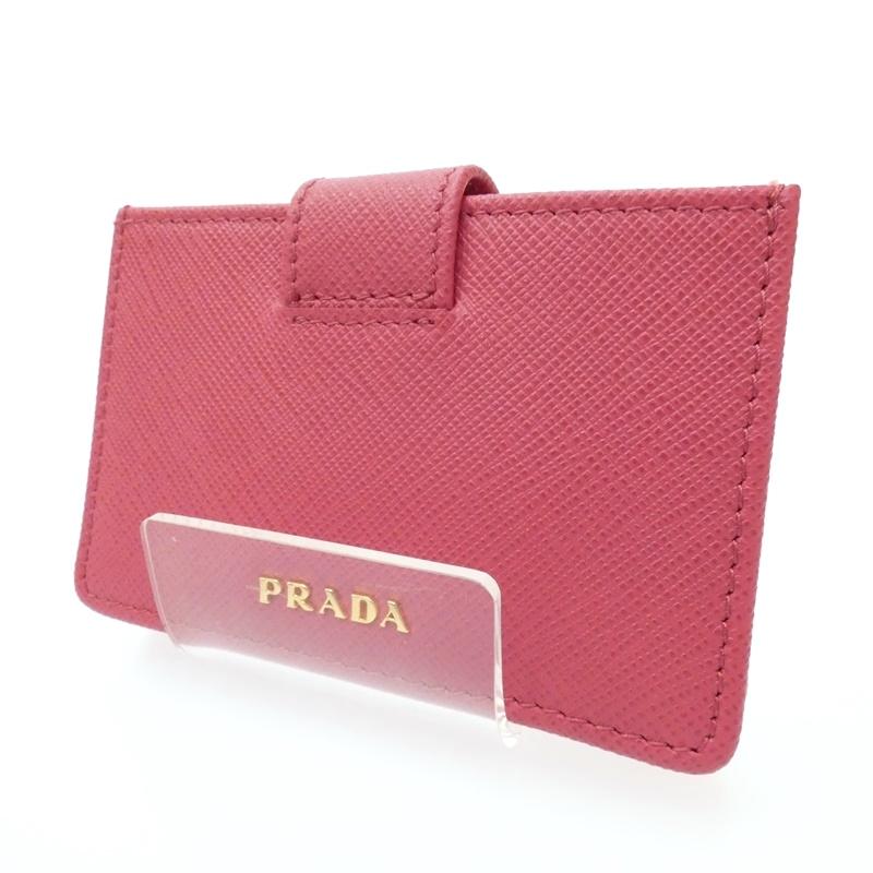 【中古】PRADA/プラダ カードケース サイズ:- カラー:ピンク【f125】