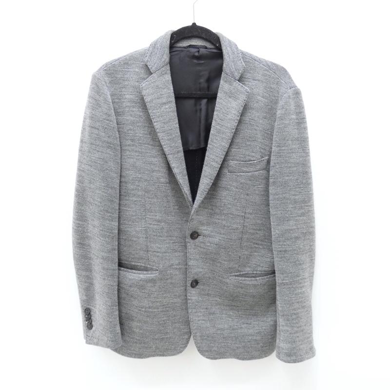 【中古】ROYAL HEM/ロイヤルヘム GRADO ニット2Bジャケット サイズ:50 カラー:グレー / インポート【f094】