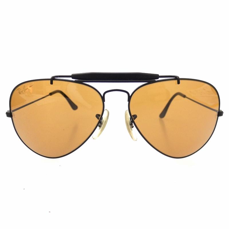【中古】Ray-Ban 90's/レイバン 90's ドライヴィングシリーズ CHROMAX B&L砂打ちロゴ AVIATOR CHROMAX W1663サングラス AVIATOR サイズ:- カラー:ブラック(フレーム)×ブラウン(レンズ)【f116】, セイロウマチ:6d4da06e --- officewill.xsrv.jp