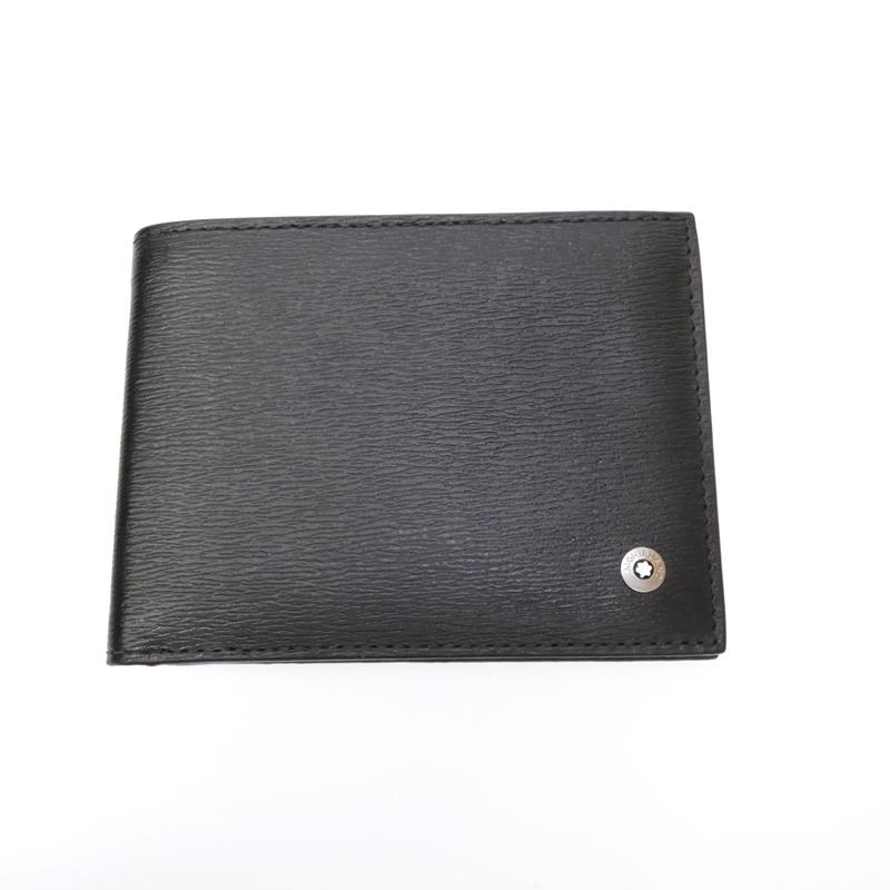 432981e81649 【中古】MONTBLANC/モンブラン 二つ折り札入れ カードケース 財布 サイズ:- カラー