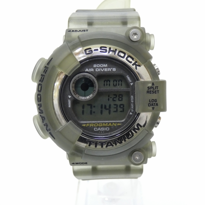 【中古】CASIO/カシオ G-SHOCK/ジーショック 腕時計 DW-8200 FROGMAN フロッグマン クォーツ 樹脂バンド サイズ:- カラー:グレー(文字盤)×カーキ系(ベルト)【f131】