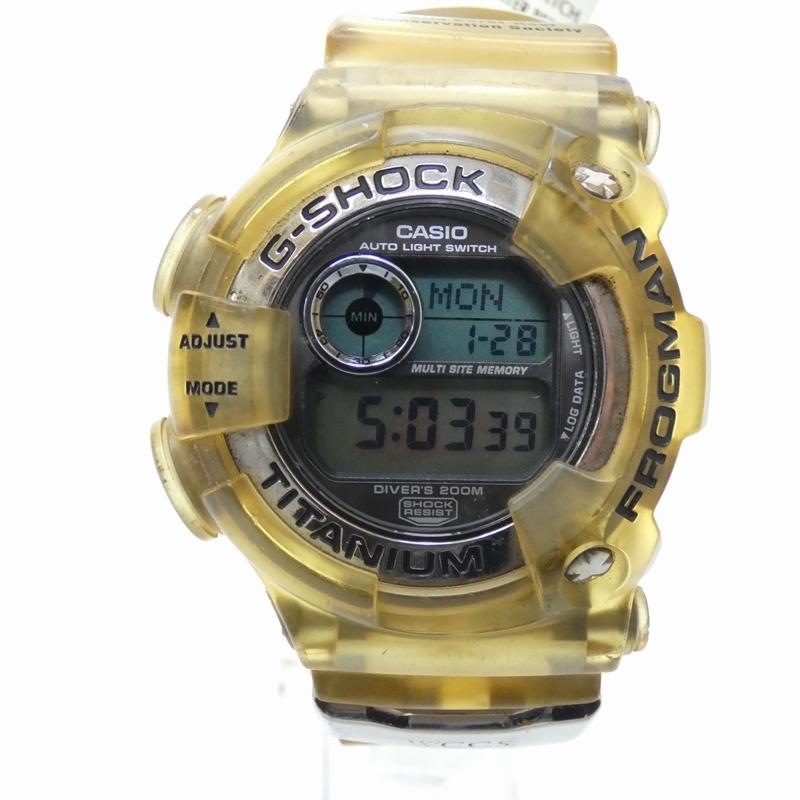 【中古】CASIO/カシオ G-SHOCK/ジーショック 腕時計 DW-9900WC クォーツ 樹脂バンド サイズ:- カラー:シルバー(文字盤)×イエロー系(ベルト)【f131】
