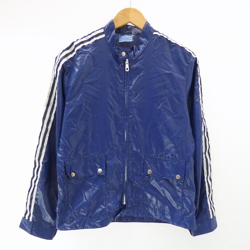 【期間限定】ポイント20倍【中古】adidas/アディダス ナイロンジャケット/70年最初期/フランス製/青タグ サイズ:174 カラー:ブルー / アメカジ【f093】