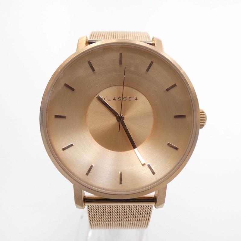 【中古】KLASSE14/クラス14 腕時計/クォーツ/ステンレススティール/VOLARE サイズ:- カラー:ゴールド(文字盤)×ゴールド(ベルト)【f131】