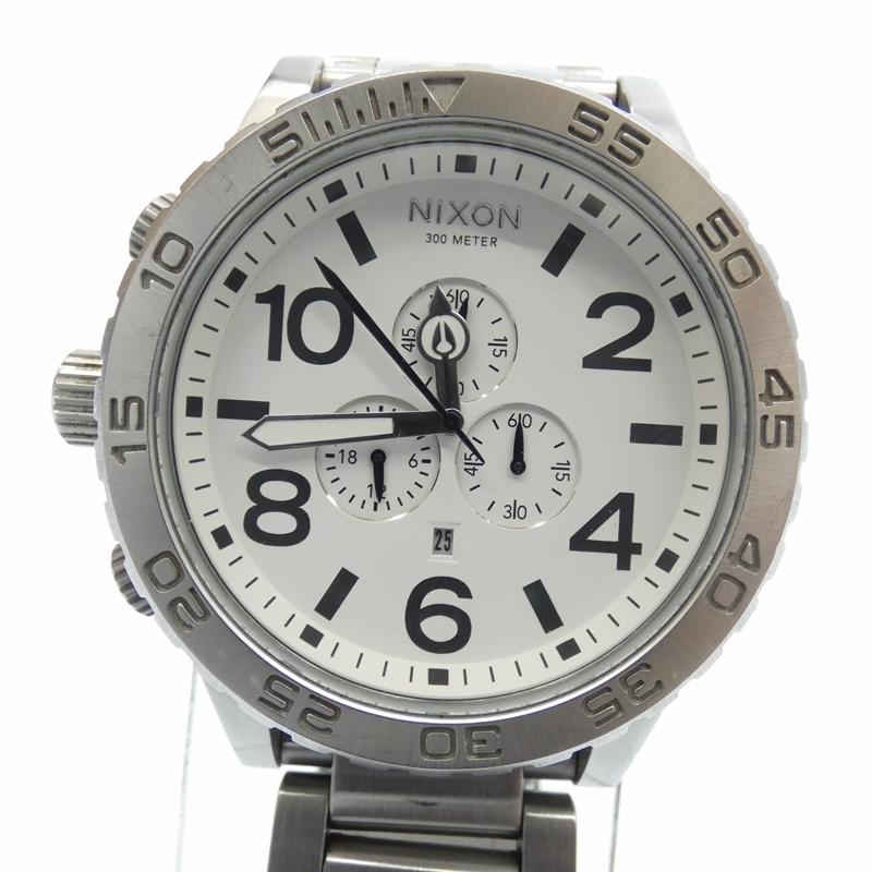 【中古】NIXON /ニクソン 腕時計/クォーツ/ステンレススティール/51-30 サイズ:- カラー:ホワイト(文字盤)×シルバー(ベルト)【f131】