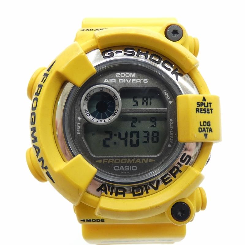 【中古】G-SHOCK/ジーショック 腕時計/クォーツ/樹脂ベルト/DW8250 サイズ:- カラー:グレー(文字盤)×イエロー(ベルト)【f131】