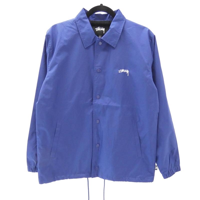 【中古】STUSSY/ステューシー コーチジャケット サイズ:S カラー:ブルー / ストリート【f095】