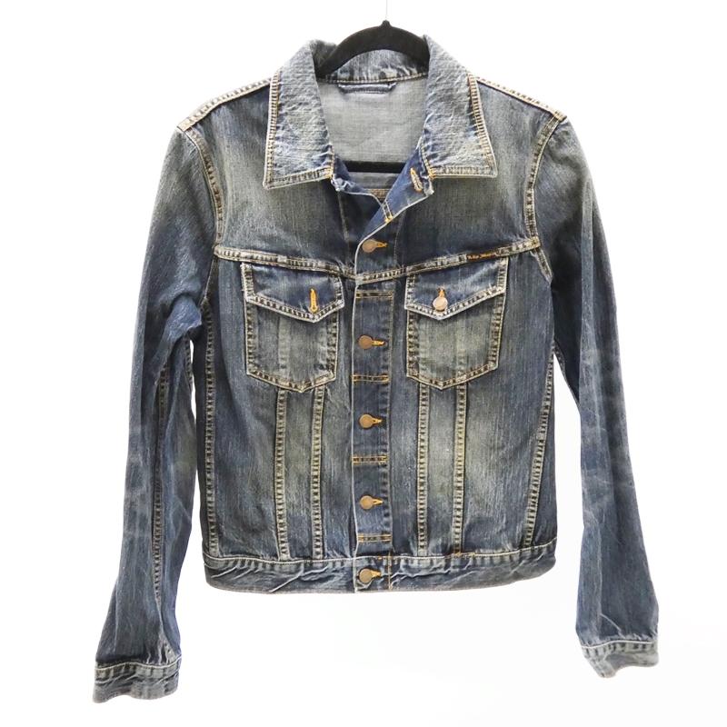 【中古】Nudie Jeans/ヌーディージーンズ デニムジャケット/TERRY サイズ:M カラー:ネイビー系 / インポート【f094】