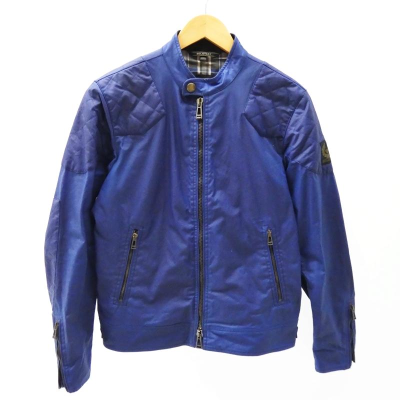 【中古】Belstaff/ベルスタッフ オイルドジャケット/OUT WAX COTTON サイズ:48 カラー:ブルー系 / インポート【f094】