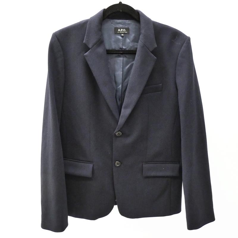 【中古】A.P.C./アー・ペー・セー テーラードジャケット サイズ:M カラー:ブラック / インポート【f094】