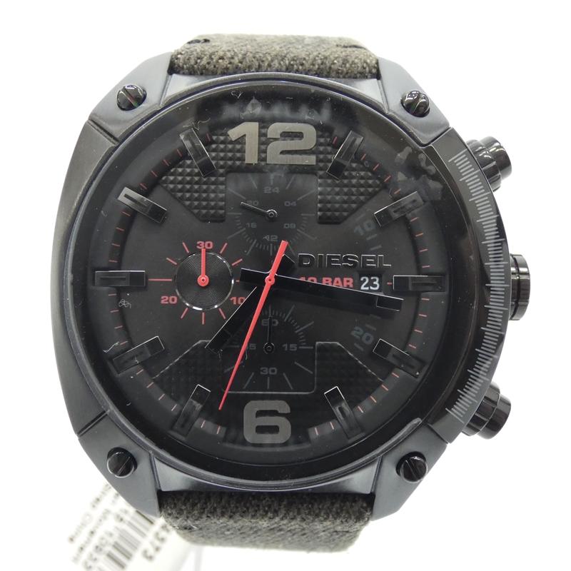 【中古】【未使用品】DIESEL/ディーゼル 腕時計 DZ4373 クォーツ サイズ:- カラー:ブラック(文字盤)×ダークグレー系(ベルト)【f130】