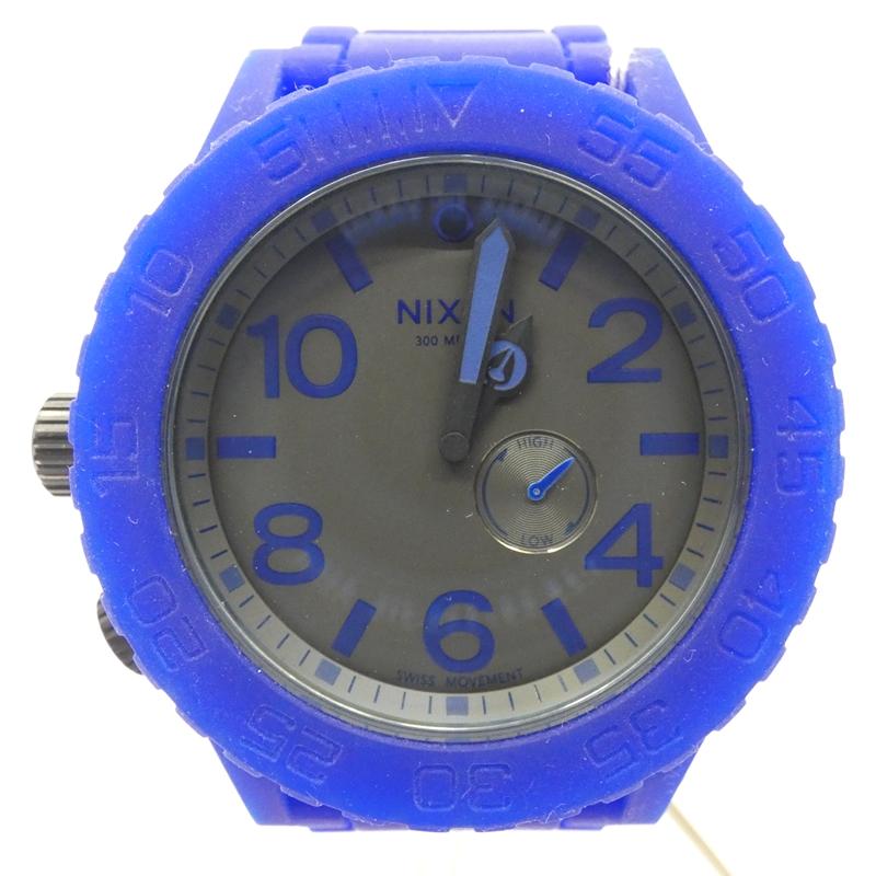【中古】NIXON|ニクソン 腕時計/51-30/クォーツ/ラバーベルト サイズ:- カラー:グレー(文字盤)×ブルー(ベルト)【f131】