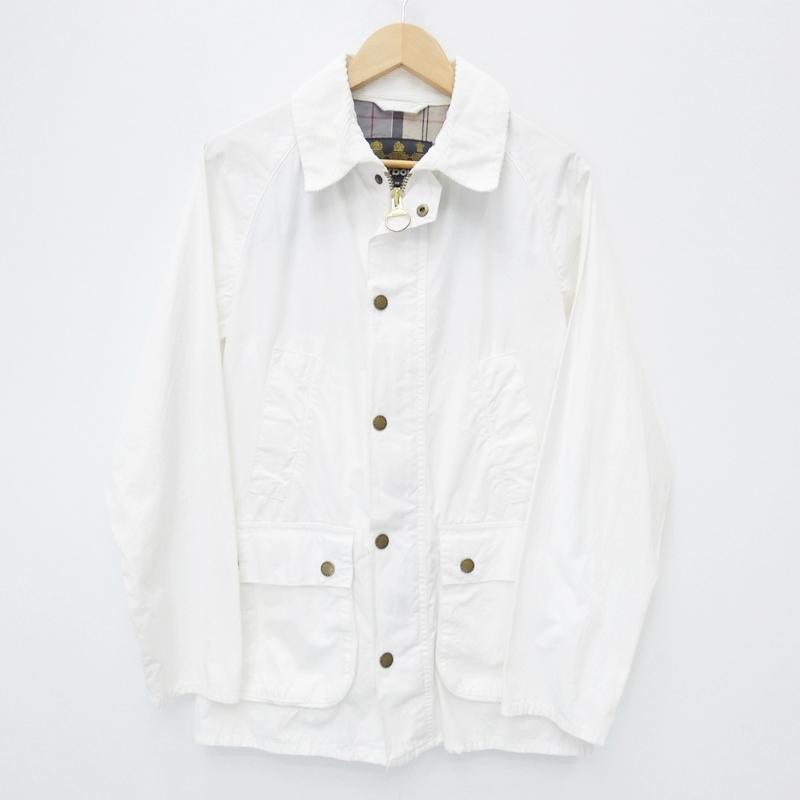 【中古】Barbour/バブアー OVERDYED BEDALE SLジャケット サイズ:38 カラー:ホワイト / インポート【f094】